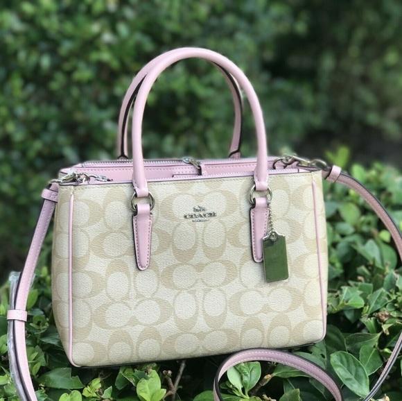 Coach Handbags - Coach Mini Surrey Carryall Bag KHAKI Pink F67027